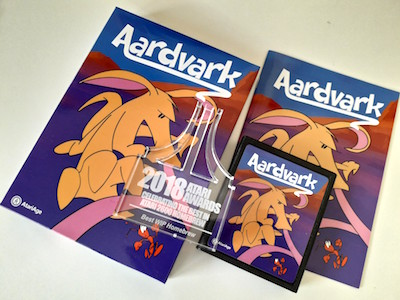 Aardvark for Atari 2600 and the trophy from the Atari Awards 2018