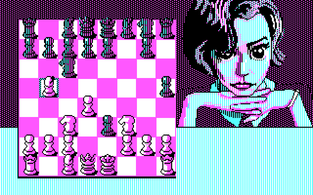Toledo Atomchess with CGA graphics