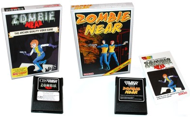 Zombie Near: Collectorvision's European (left) and American (right) box