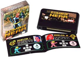 Zombie Near: Matra's box, cartridge and manual, graphical design by @star2024
